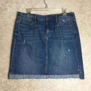 LOFT Ann Taylor Size 10 Jean Skirt Blue Denim